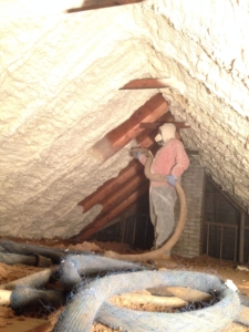 Attic Spray Foam Insulaiton