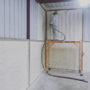 Insulating a Metal Building With Closed Cell Spray Foam 1